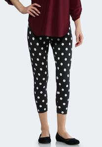 Cropped Polka Dot Leggings
