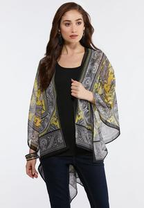 Paisley Scroll Print Kimono