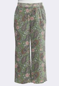 a3fad1972f799 Plus Size Floral Paisley Palazzo Pants