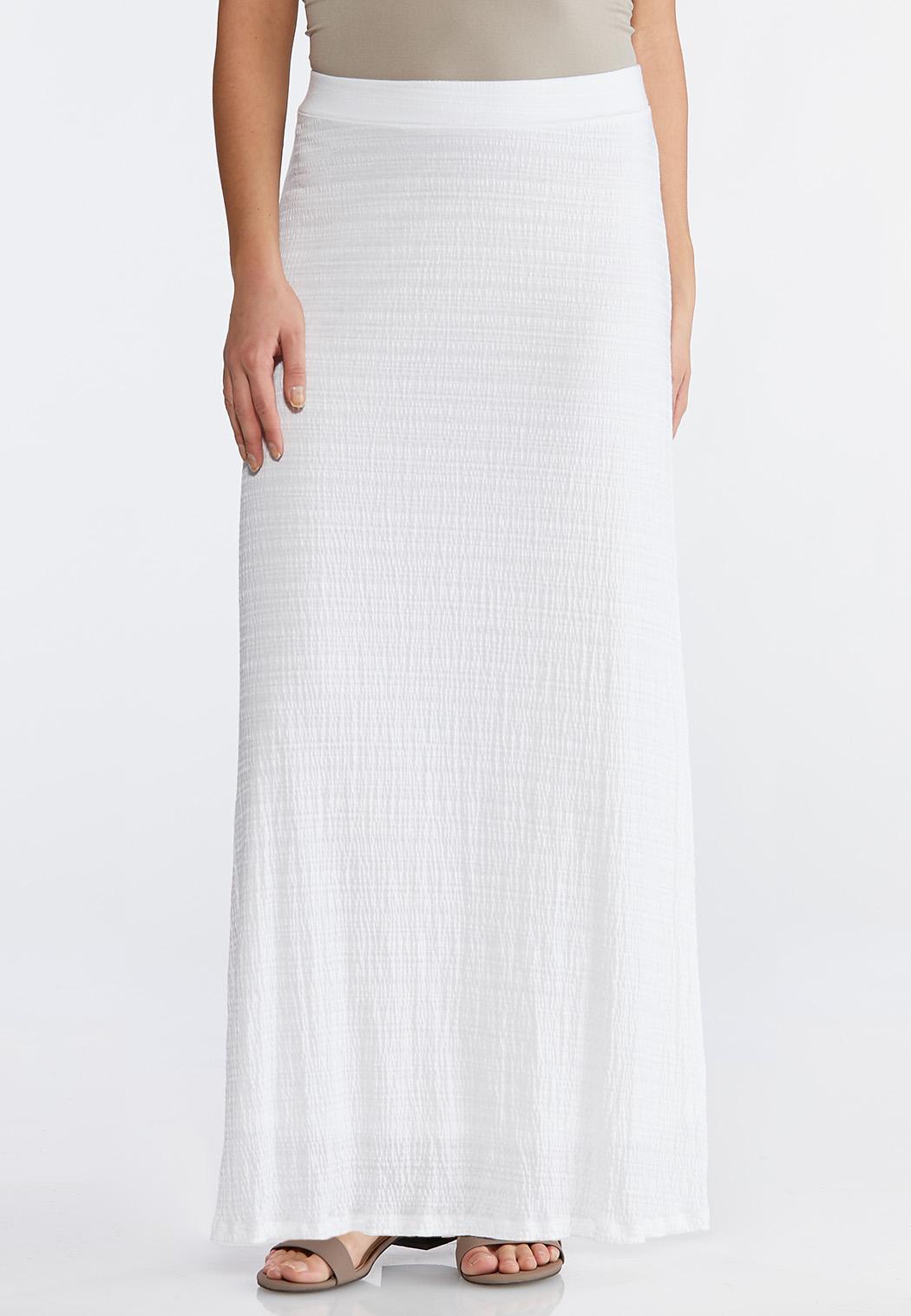 Plus Size Slub Knit Maxi Skirt
