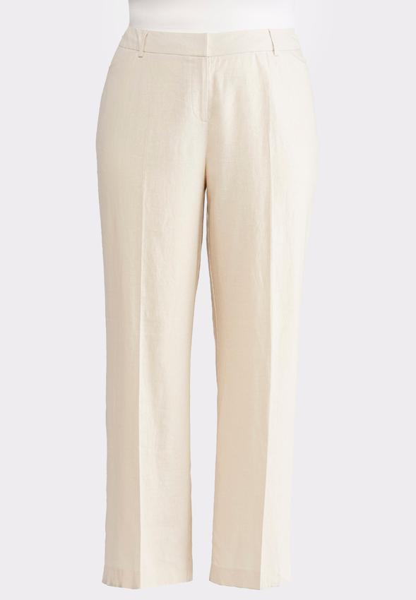 9e94458ebb Plus Petite Linen Trouser Pants Petite Pants Cato Fashions