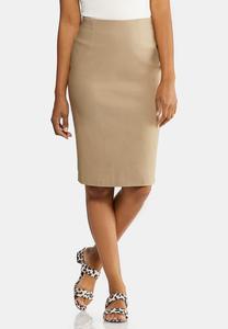 Plus Size Bengaline Pencil Skirt