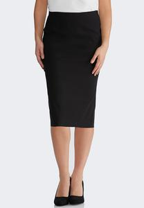 Plus Size Bengaline Pencil Skirt
