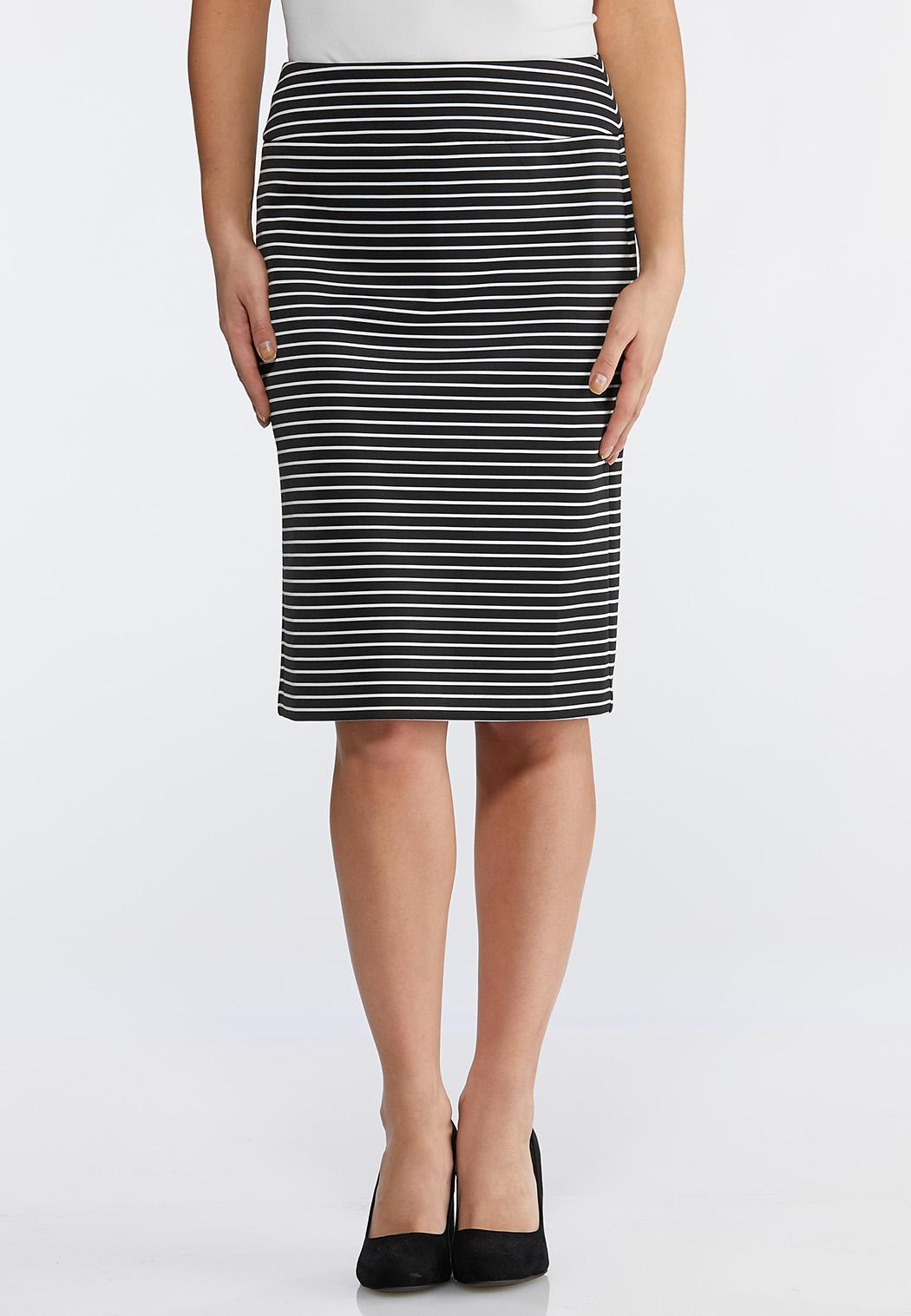 77811ee7849 Stripe Scuba Pencil Skirt alternate view · Stripe Scuba Pencil Skirt