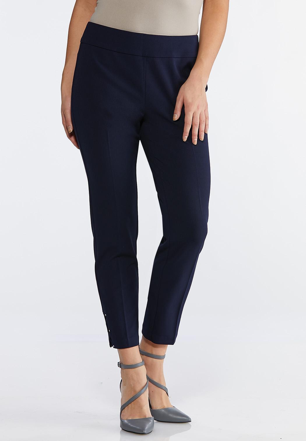 Petite Embellished Ankle Pants