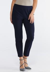 Petite Embellished Ankle Pants