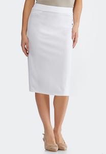134194980e3 Plus Size White Pencil Skirt