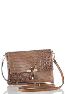 Faux Crocodile Envelope Crossbody