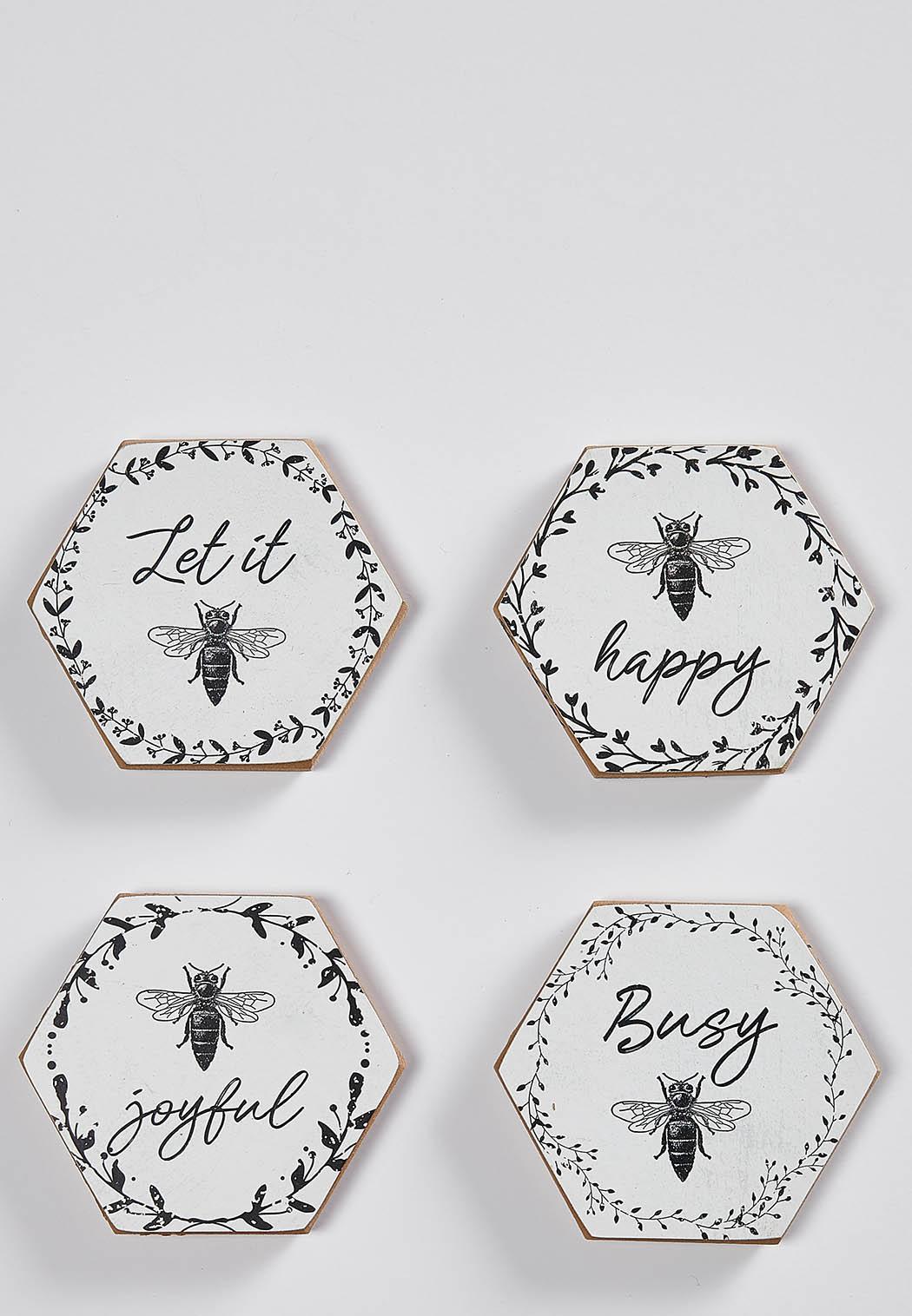 Wooden Bee Coasters