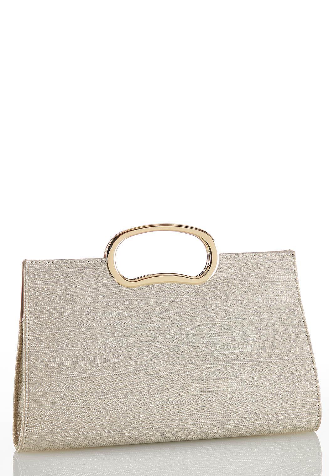 Metallic Ring Handle Clutch