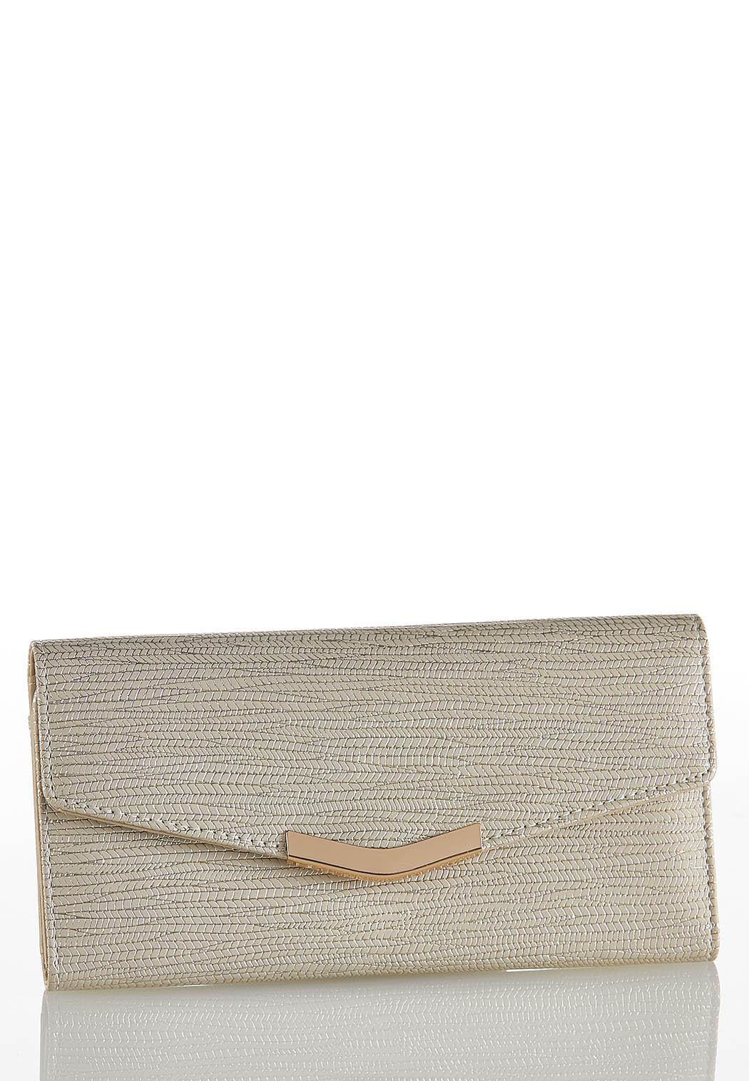Metallic Textured Wallet