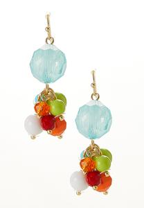 Colorful Cluster Bead Earrings