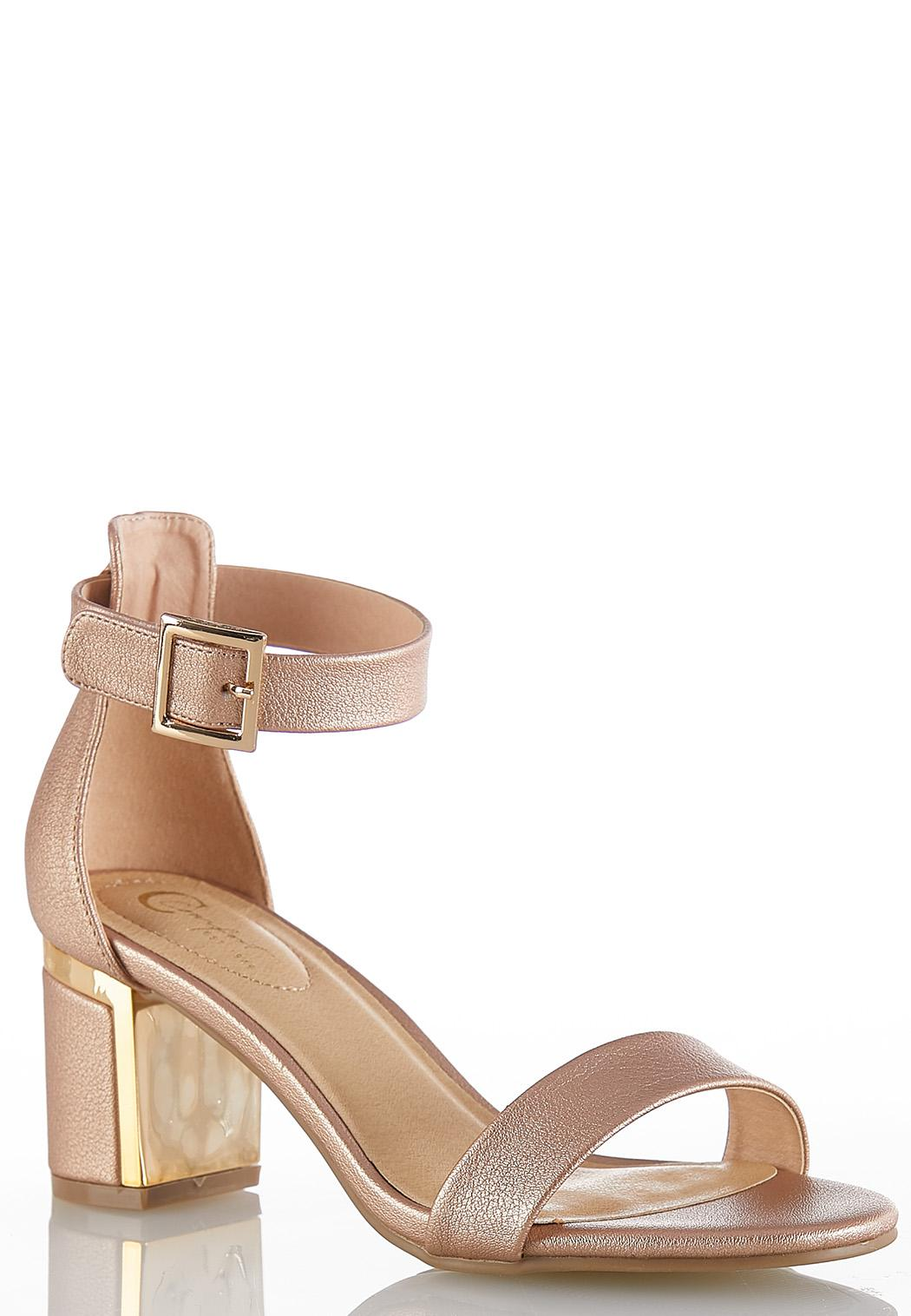f43b339bbbf Wide Width Rose Gold Heeled Sandals Heels Cato Fashions