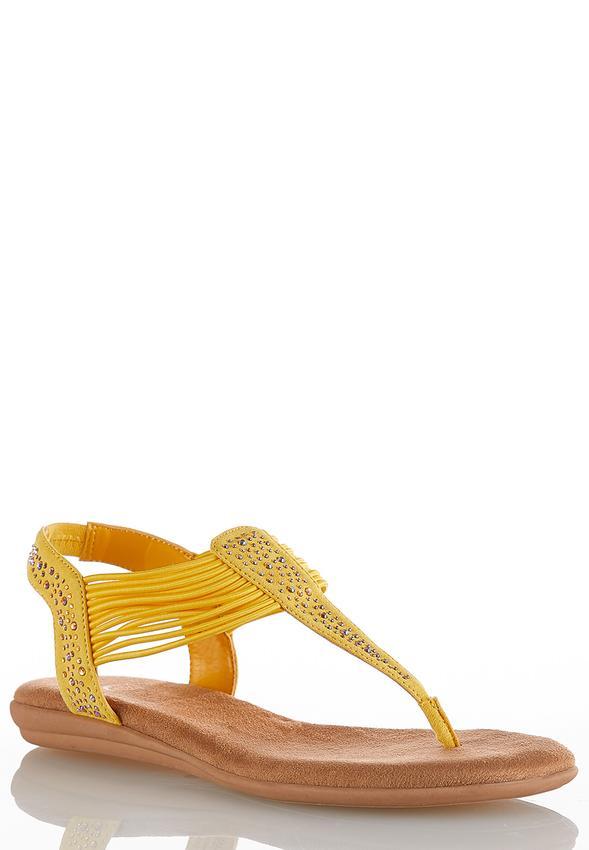 60509d2d9fb95 Embellished Thong Sandals Flats Cato Fashions