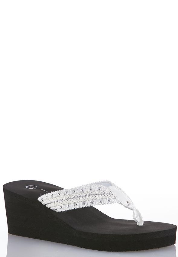 0dcc55599 Stud Strap Wedge Flip Flops Flip Flops Cato Fashions