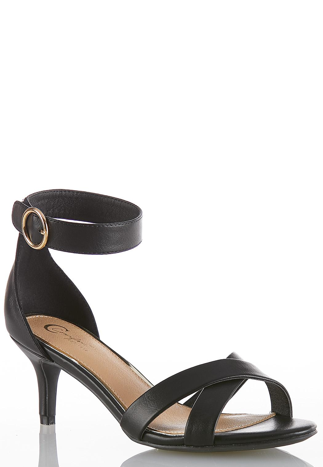 Ankle Strap Heeled Sandals