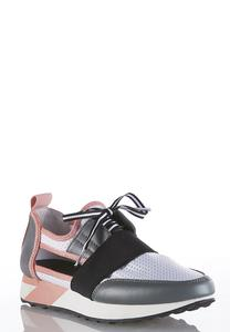 Cutout Side Lace Up Sneakers