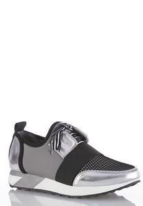 Metallic Colorblock Sneakers