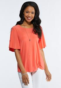 Plus Size Cinched Hem Tee