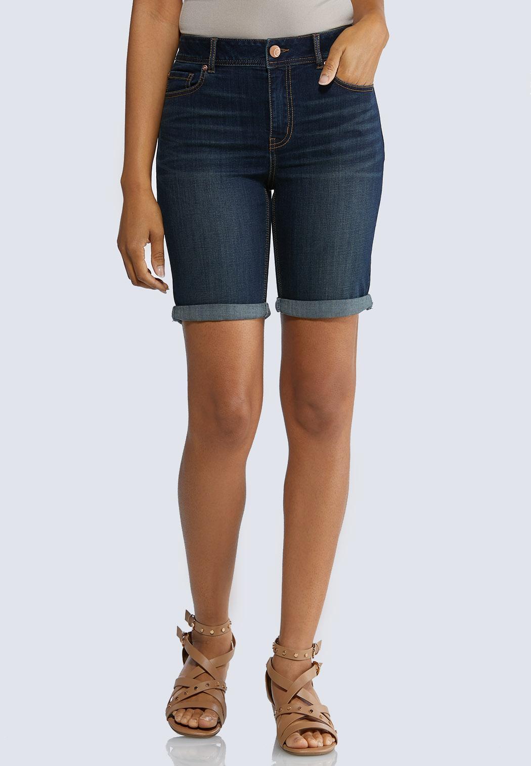Dark Bermuda Denim Shorts