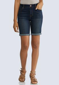 Dark Bermuda Denim Shorts