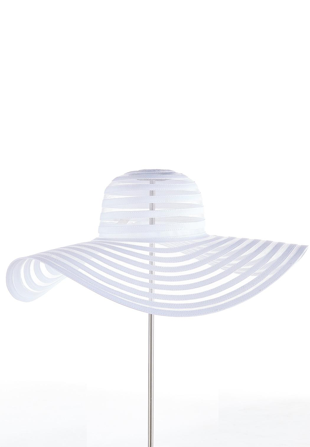 Illusion Striped Floppy Hat