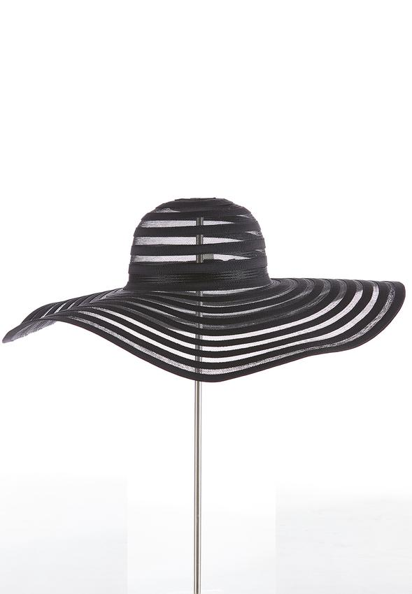 c8fc6fe68 Illusion Striped Floppy Hat Hats & Amp ; Hair Cato Fashions