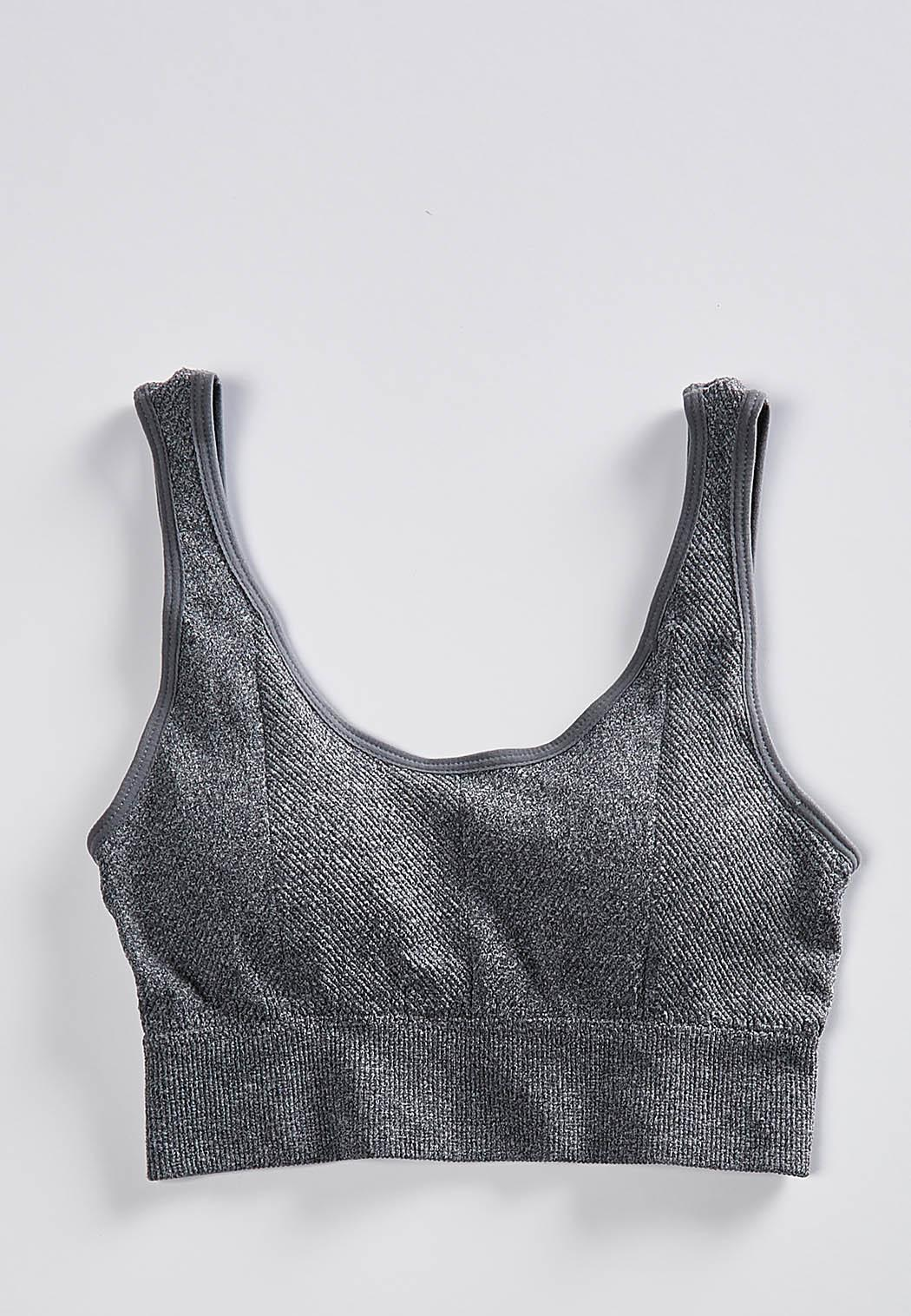 Gray Heather Sports Bra 66398547b