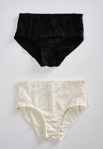 High Waist Lace Panty Set