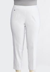 Plus Size Embellished Ankle Pants