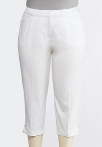 Plus Size Shape Enhancing Tailored Crop Pants