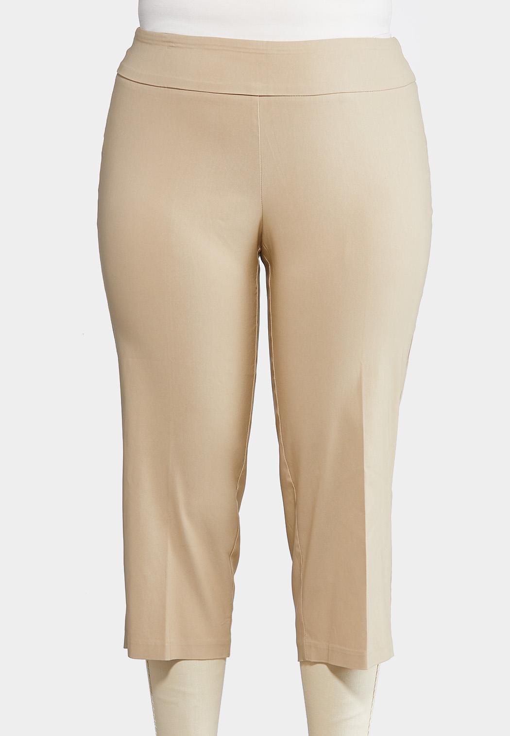 Plus Petite Cropped Bengaline Pants