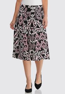 Plus Size Puff Swirl Skirt