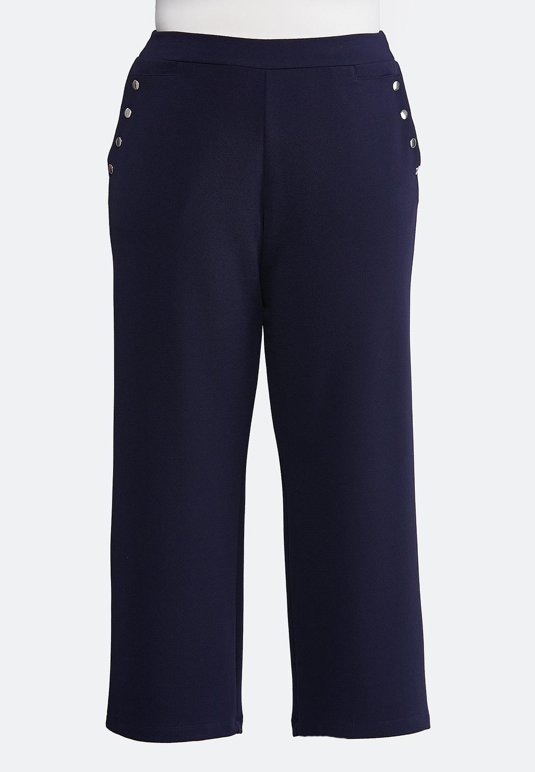 f500bbc9145 Plus Size Textured Sailor Pants Wide Leg Cato Fashions