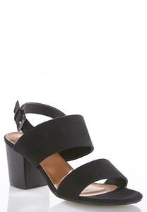 Wide Width Chunky Heeled Sandals