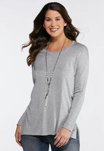 Seamed Pullover Sweater