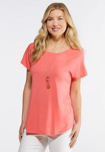 Solid Shirttail Tee