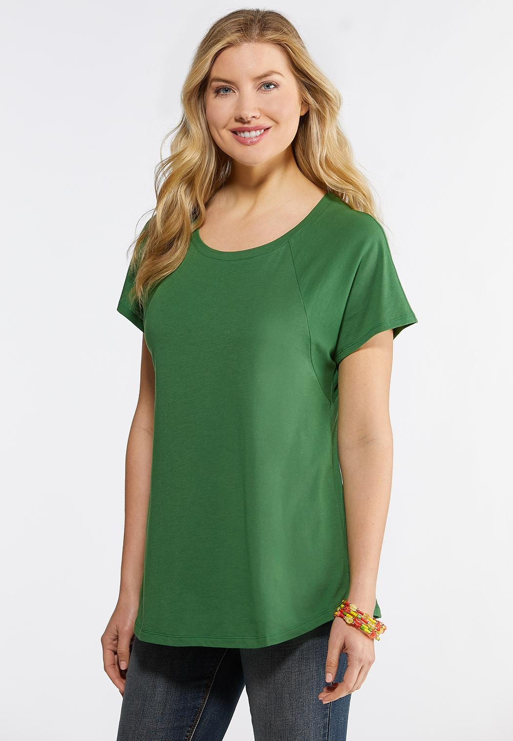 Plus Size Solid Shirttail Tee