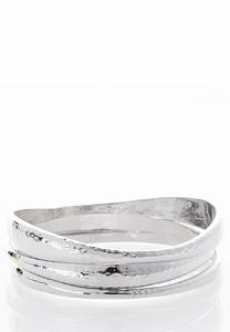 XL Hammered Metal Bangles