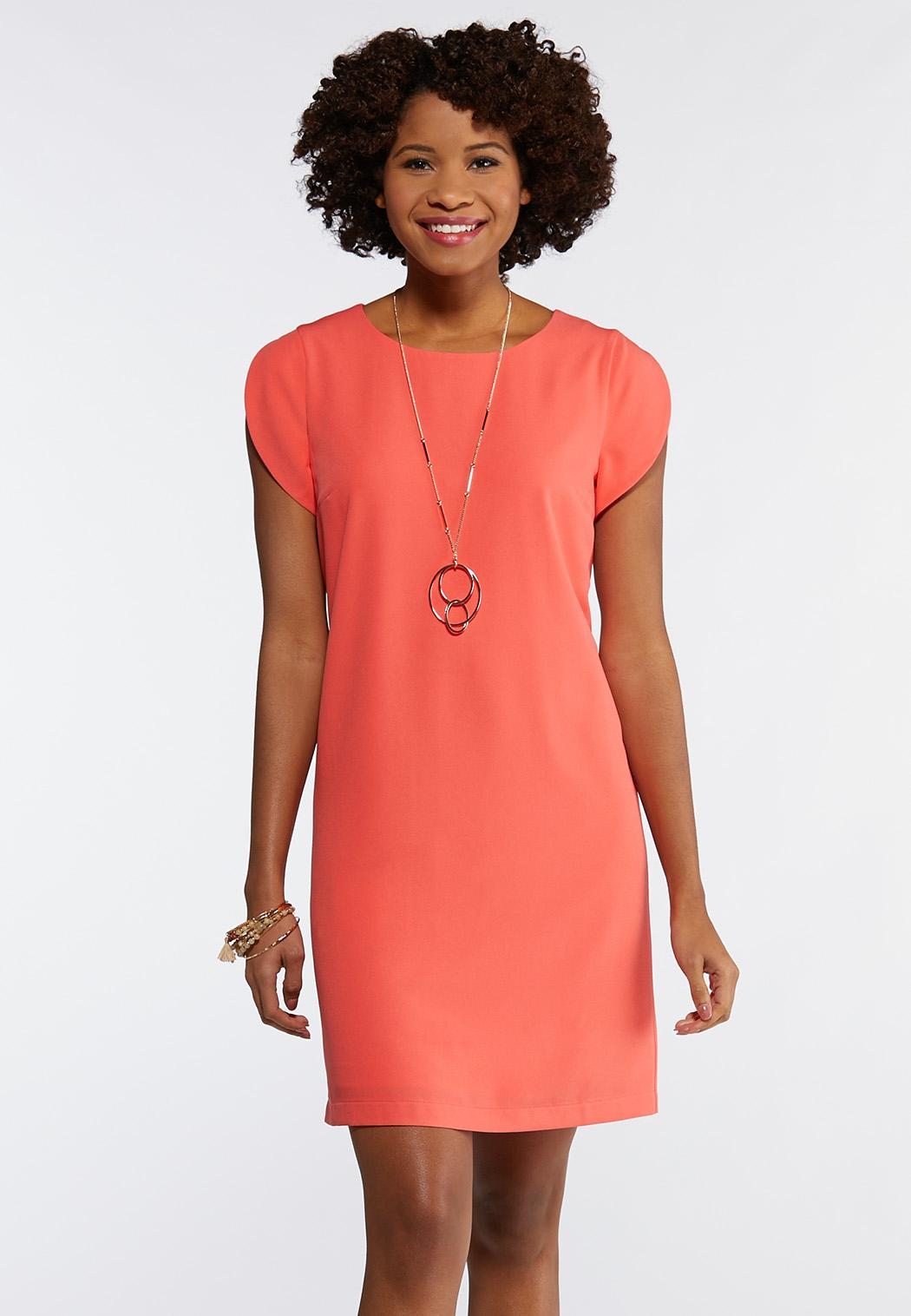 Tulip Sleeve Shift Dress
