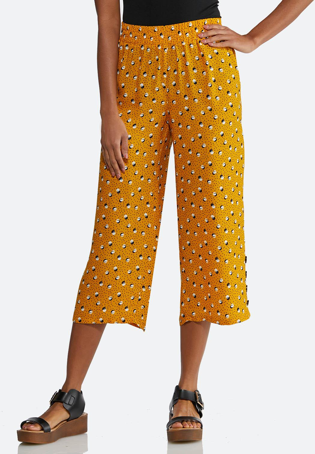 Cropped Golden Dot Pants