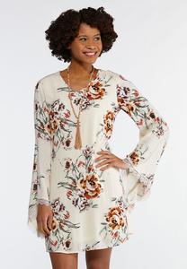 Ivory Floral Swing Dress