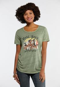 Plus Hold Your Horses Tee