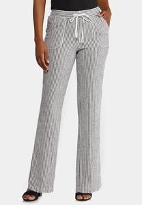 Stripe Linen Beach Pants