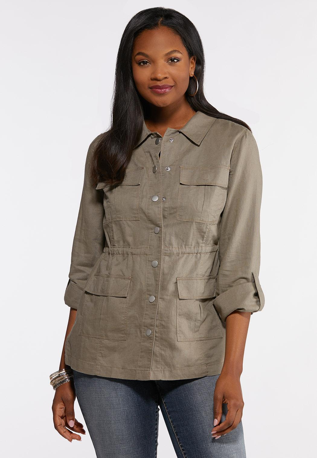 Linen Utility Jacket
