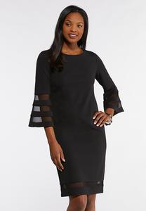 Plus Size Illusion Sheath Dress