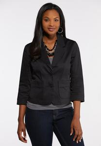 Plus Size Sateen Blazer