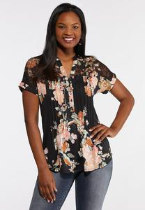 Delicate Floral Pullover Top