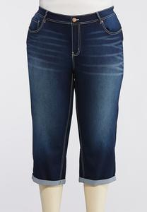 Plus Size Curvy Uplifting Cropped Skinny Jeans