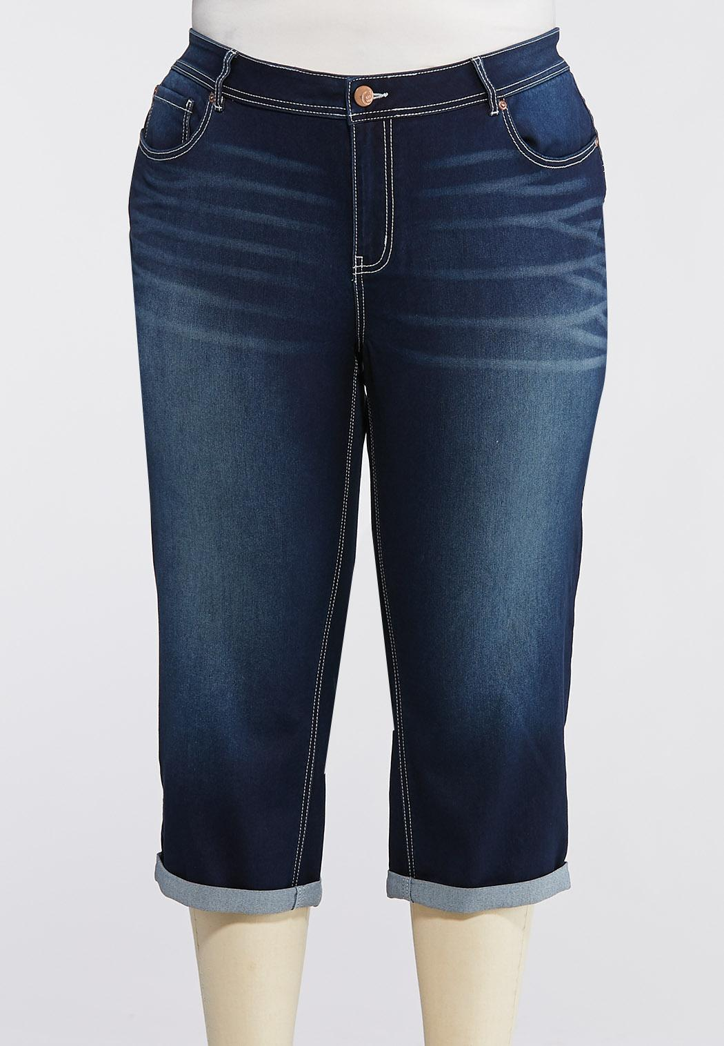 Plus Extended Curvy Uplifting Cropped Skinny Jeans